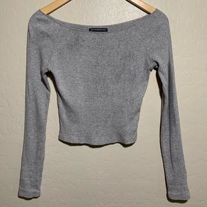SOLD Grey cropped long sleeve
